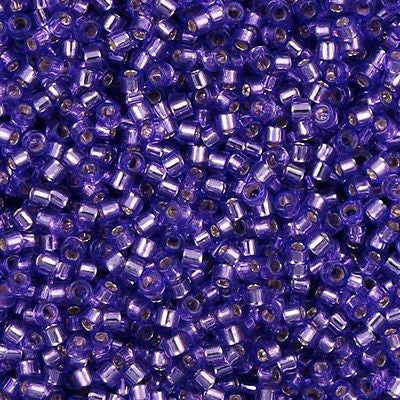 Miyuki Delica seed bead 11/0 Silver Lined Lilac 5g DB1347