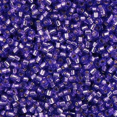 Miyuki Delica Seed Bead 11/0 Silver Lined Dyed Lilac 7g Tube DB1347
