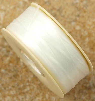 Size 00 Nymo Nylon White Thread 140 yard bobbin