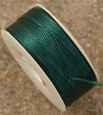 Size D Nymo Nylon Evergreen Thread 64 yard bobbin