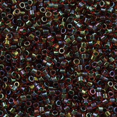 Miyuki Delica Seed Bead 11/0 Peridot Inside Dyed Color Ruby 7g Tube DB1741
