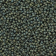 50g Toho Round Seed Beads 11/0 Higher Metallic Matte Blue Haze (512F)