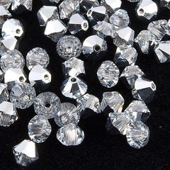 144 Swarovski 5328 Xilion 4mm Bicone Bead Crystal Comet Argent Light (001 CAL)