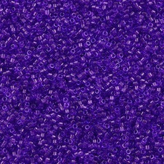 Miyuki Delica Seed Bead 11/0 Transparent Dyed Purple 7g Tube DB1315