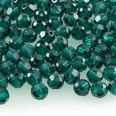 Swarovski Crystal 6mm 5000 Round Bead Emerald (205)