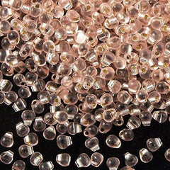 Tiny Miyuki Drop Seed Bead Silver Lined Pale Rose 9g Tube (23)