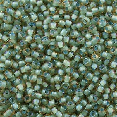 Toho Round Seed Beads 6/0 Inside Color Lined Sea Foam Topaz 30g (952)