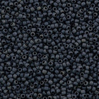 Toho Round Seed Beads 11/0 Opaque Matte Blue Grey 15g (612)