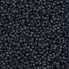 Toho Round Seed Bead 11/0 Opaque Matte Blue Grey 19g Tube (612)