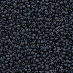50g Toho Round Seed Beads 11/0 Opaque Matte Blue Grey (612)