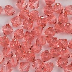 144 Swarovski 5328 Xilion 4mm Bicone Bead Rose Peach (262)