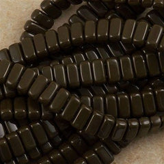 50 CzechMates 3x6mm Two Hole Brick Beads Chocolate Brown (13720)