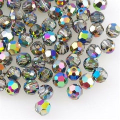 Swarovski 4mm 5000 Round Bead Crystal Vitrail Medium (001 VM)