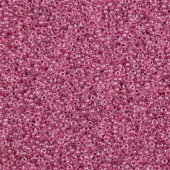 Miyuki Round Seed Bead 15/0 Inside Color Lined Sparkle Peony Pink 10g (1524)