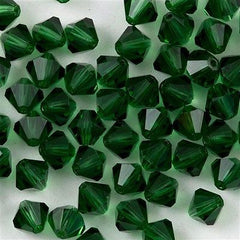 72 Preciosa Czech Crystal 6mm MC Bicone Bead Green Turmaline HA6-50020