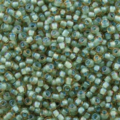 Toho Round Seed Bead 8/0 Inside Color Lined Sea Foam Topaz 30g (952)