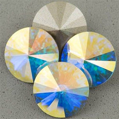 Four Swarovski Crystal 16mm 1122 Rivoli Crystal AB (001 AB)