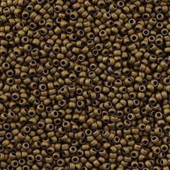 Toho Round Seed Bead 15/0 Matte Soft Brown 2.5-inch Tube (702)