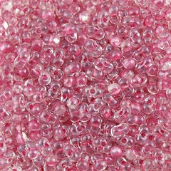 Miyuki Berry Seed Bead Inside Color Lined Sparkle Peony Pink 15g BB-1524