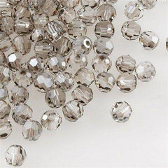 12 Swarovski Crystal 4mm Faceted Round Bead Crystal Satin (001 SAT)