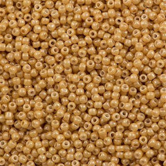 Toho Round Seed Bead 11/0 Opaque Luster Butterscotch 19g Tube (123D)