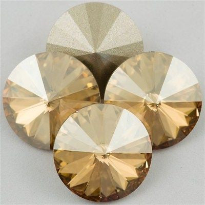 Four Swarovski Crystal 16mm 1122 Rivoli Crystal Golden Shadow (001 GSHA)