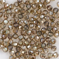 Swarovski Crystal 4mm 5000 Round Bead Crystal Bronze Shade (001 BRSH)