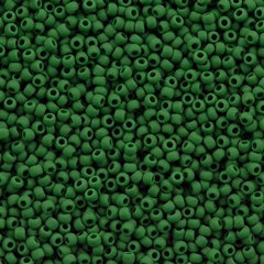 Toho Round Seed Bead 11/0 Opaque Matte Forest Green 19g Tube (47HF)