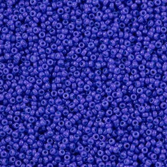 Miyuki Round Seed Bead 15/0 Dyed Opaque Bright Purple 2-inch Tube (1486)