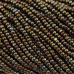 Czech Charlotte Seed Bead Brown Iris 1/2 Hank 13/0 (59115)