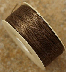 Size B Nymo Nylon Brown Thread 72 yard bobbin