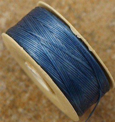 Size D Nymo Nylon Royal Blue Thread 64 yard bobbin