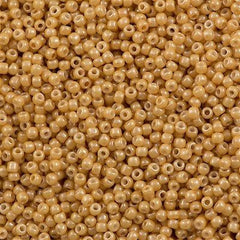 50g Toho Round Seed Bead 11/0 Opaque Luster Butterscotch (123D)