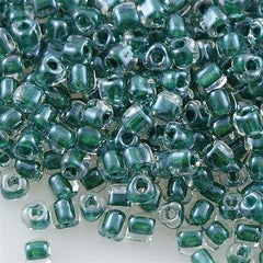 Miyuki Triangle Seed Bead 8/0 Inside Color Lined Hunter Green 15g TR1117