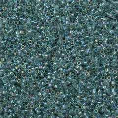 Miyuki Delica Seed Beads 11/0 Inside Dyed Color Light Seafoam AB 5g DB84