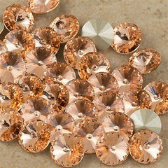 Six Swarovski Crystal SS39 1122 Rivoli Light Peach (362)