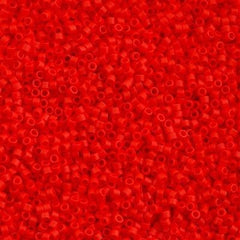 Miyuki Delica Seed Bead 11/0 Matte Opaque Red Coral 7g Tube DB757