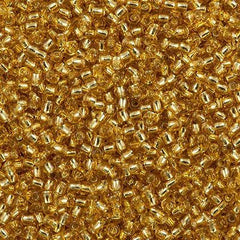 Toho Round Seed Beads 11/0 Silver Lined Medium Gold 15g (22B)