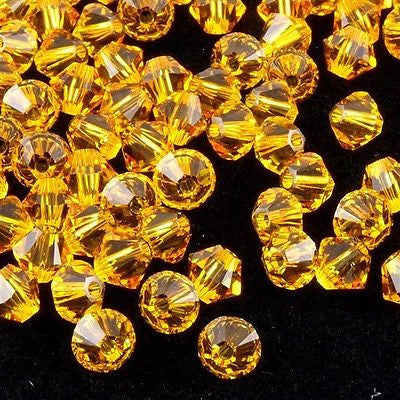 24 Swarovski 5328 Xilion 6mm Bicone Bead Sunflower (292)