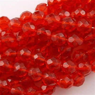 50 Czech Fire Polished 8mm Round Bead Hyacinth (90040)