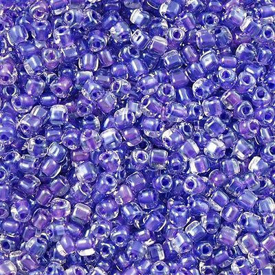 Miyuki Triangle Seed Bead 8/0 Inside Color Lined Purple 15g TR1123