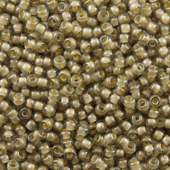Toho Round Seed Bead 8/0 Inside Color Lined Sand Crystal 30g (369)