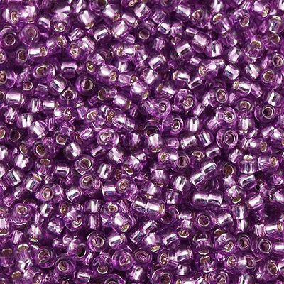 Toho Round Seed Bead 8/0 Silver Lined Light Grape 5.5-inch tube (2219)