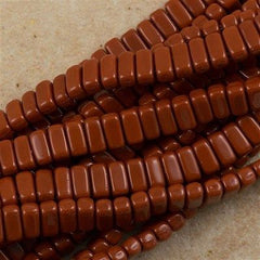 50 CzechMates 3x6mm Two Hole Brick Beads Umber (13610)