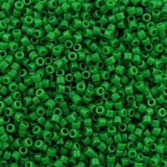 Miyuki Delica Seed Bead 11/0 Opaque Dyed Green 7g Tube DB655