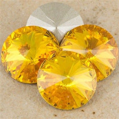 Four Swarovski Crystal 14mm 1122 Rivoli Sunflower (292)