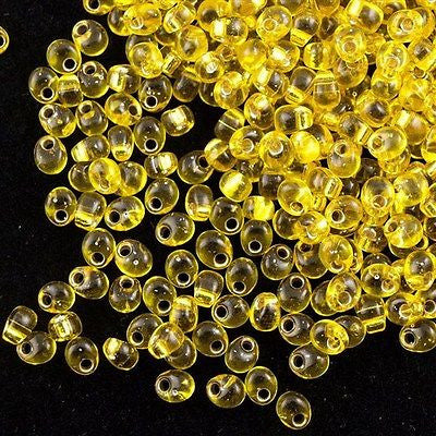 Miyuki 4mm Magatama Seed Bead Silver Lined Yellow 23g Tube (6)
