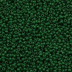 Toho Round Seed Bead 11/0 Opaque Forest Green 15g (47H)