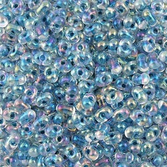 Miyuki Berry Seed Bead Inside Color Lined Light Blue AB 15g BB-279
