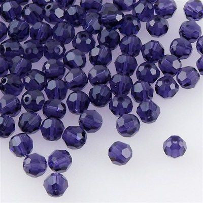 Swarovski Crystal 4mm 5000 Round Bead Purple Velvet (277)